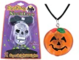 Halloween Flashing Necklace - Skull, Ghost, and Jack O Lantern (Sold Individually)