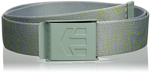 etnies Men's Staplez Graphic Belt Grey/Light Grey Belt One Size