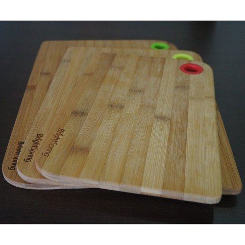 Bamboo cutting board set eco friendly 3 piece chopping for Kitchen knife set of 7pcs with cutting board