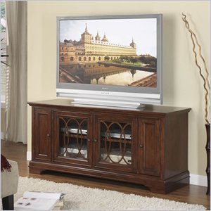Cheap Riverside Furniture Yorktown 60 Inch TV Stand and Deck in Vintage Cherry (5141-51)