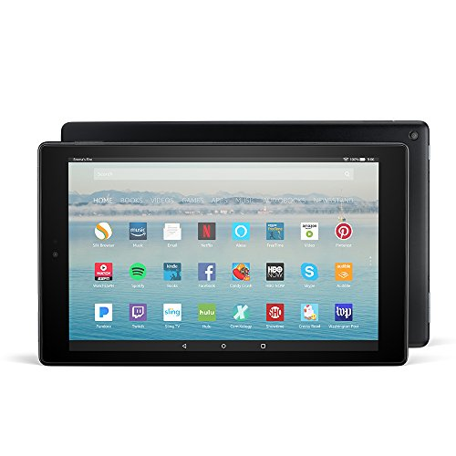 아마존 파이어 HD10 10인치 태블릿 Amazon Fire HD 10 Tablet with Alexa Hands-Free, 10.1 1080p Full HD Display, 32 GB, Black - with Special Offers
