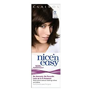 Clairol Nice'n Easy Non-Permanent Hair Colour (Lasts Up To 8 Shampoos) - 79 Dark Brown