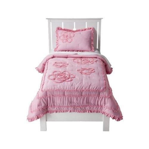 Circo Ruffle Pink Quilt/Comforter Set -Full front-893950