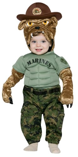 Chesty The Marines Bulldog Toddler Costume - Kid's Costumes