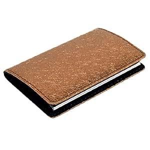 Brown Leahter Magnetic Business Credit Card Case Holder