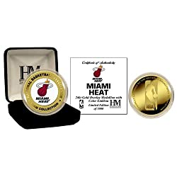 Miami Heat 24Kt Gold And Color Team Logo Coin