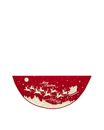 Kurt Adler 48 Reindeer & Santa Printed Tree Skirt