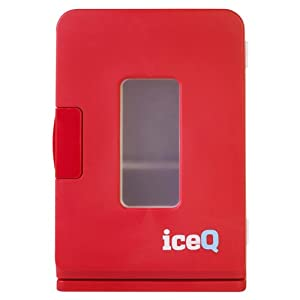 iceQ 15 Litre Deluxe Portable Mini Fridge With Widow - Red