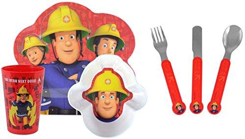 sam-le-pompier-the-hero-next-door-lot-de-6-assiettes-couverts-vaisselle