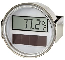 Miljoco CD20668403-48 Digital Thermometer, Solar Powered Display, Flush Mount with Plain U-Clamp Connection, 2\