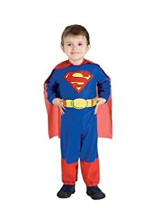 "Superman Costume, Kids Superman Jumpsuit and Cape Outfit, Toddler, 1 - 2 years, HEIGHT 2' 11"" - 3' 4"""