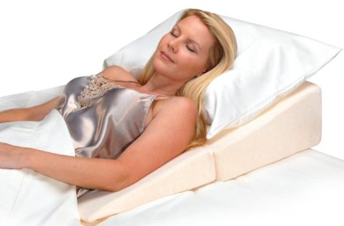 Contour Products Folding Bed Wedge Pillow, 12 Inches X 24 In