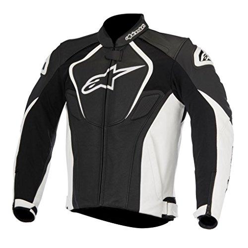 Alpinestars Men's Jaws Leather Jacket (Black/White, EU 52)