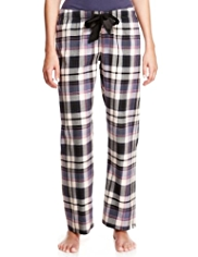 Limited Collection Pure Cotton Checked Pyjama Bottoms
