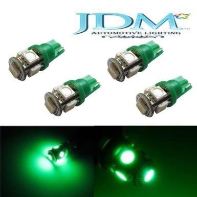 Jdm Astar 4X 5-Smd 168 194 2825 T10 Led Light Bulbs,Emerald Green