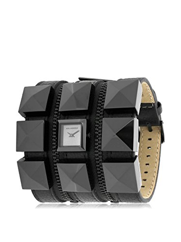 Karl Lagerfeld Women's KL2001 Black Stainless Steel and Leather Watch