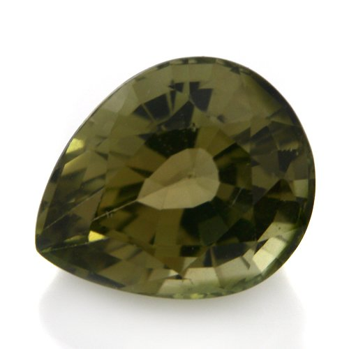Natural Africa Green Tourmaline Loose Gemstone Pear Cut 8*7mm 1.95cts SI Grade