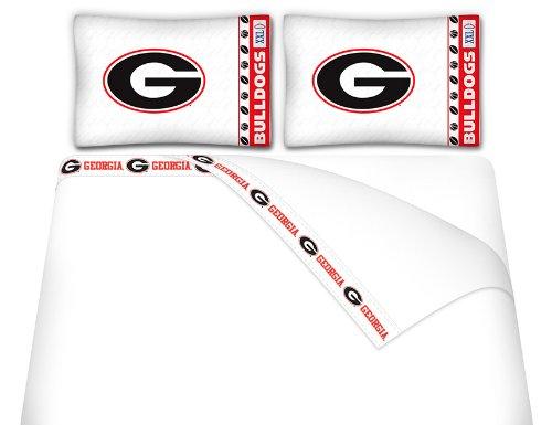 NCAA Georgia Bulldogs Micro Fiber Sheet Set (Full) (Bulldog Bedding compare prices)