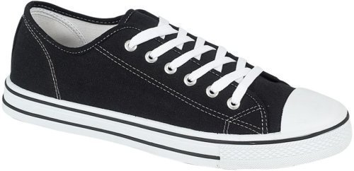 mens canvas baseball shoes in 4 colours 10 black ebay