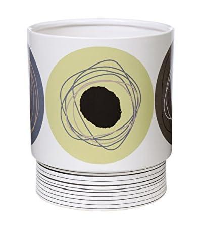 Creative Bath Dot Swirl Wastebasket, Citron