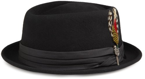 Brixton Men's Stout Pork Pie Fedora Hat, Black/Black, X-Large (Men Pork Pie Hat compare prices)