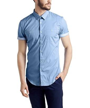 ESPRIT Collection Herren Slim Fit Businesshemd 054EO2F014, Gr. Kragenweite: 35 cm (Herstellergröße: 35/36), Blau (BUSINESS BLUE 437)