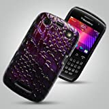 BLACKBERRY CURVE 9360 CASE -QUALITY PURPLE CROCODILE SKIN DESIGN PU LEATHER HARD BACK CASE / COVER / SHELL / SKIN - INCLUDING GOOD VALUE 2 IN 1 PACK OF QUALITY ULTRA CLEAR SCREEN PROTECTORS- Accessories for mobile phones by Oliviasphonesby OLIVIASPHONES