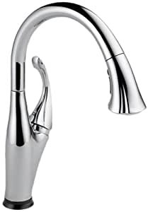 Delta 9192T-DST Addison Single Handle Pull-Down Kitchen Faucet Featuring Touch2O, Chrome