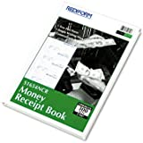 Rediform Hardcover Carbonless Numbered Money Receipt Book, 300 Duplicate Sets per Book (S1654N-CR)