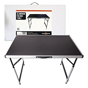Milestone Camping Aluminium Folding Table - Black from Milestone Camping