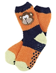 Cosy Monkey Slipper Socks