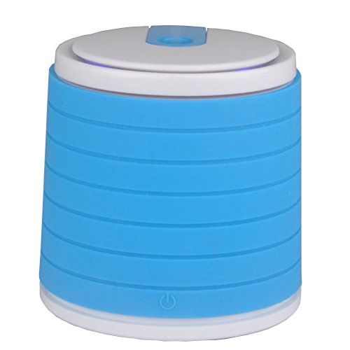 Chafon Portable 100ml Mini USB Air Freshener Ultrasonic Humidifier-Small Personal Humidifier with Auto Shut-off for Bedrooms, Living Rooms,Car,Home and Office-Blue (B-100ml) - 1