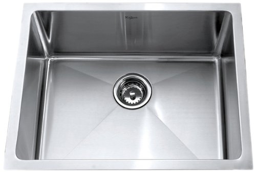 Buy Bargain Kraus 23 inch Undermount Single Bowl 16 gauge Stainless Steel Kitchen Sink