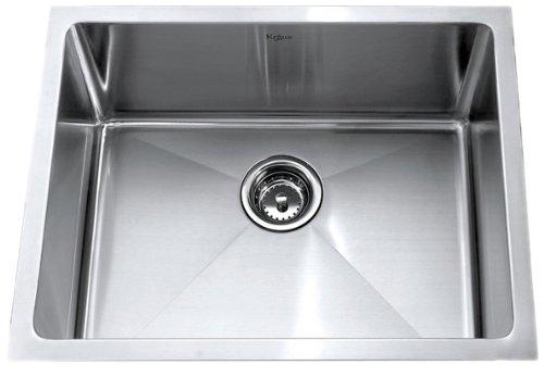 Buy Bargain Kraus 23 inch Undermount Single Bowl 16 gauge Stainless Steel Kitchen Sink
