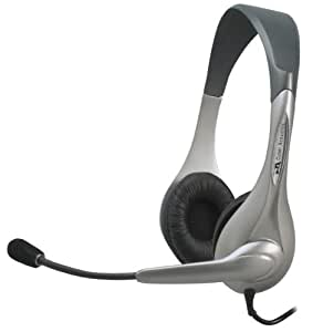 Cyber Acoustics Stereo Headset/Microphone, Ambidextrous Design (AC-201)