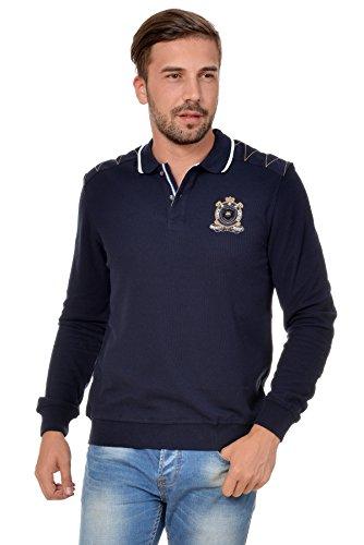 Sweat Maglietta T-Shirt Polo Felpa manica lunga per uomo di M.Conte Orsson blu XL