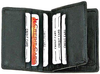 Center Flap Credit Card Holder style - 74