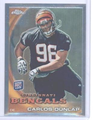 2010 Topps Chrome Football Rookie Card #C65 Carlos Dunlap Cincinnati Bengals