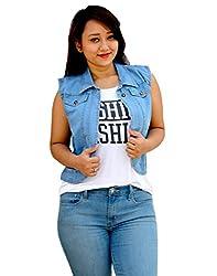 Aarti Collections Classic Light blue Women's Denim Jacket