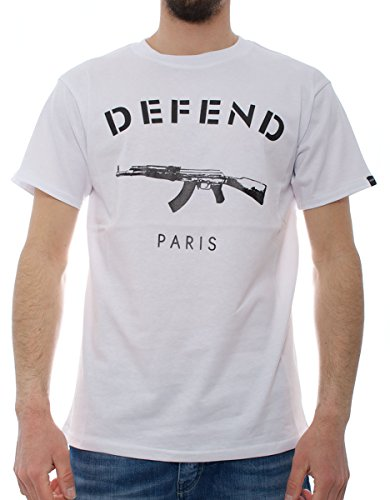 Defend Paris Tee Black uomo, maglietta, bianco, Large EU