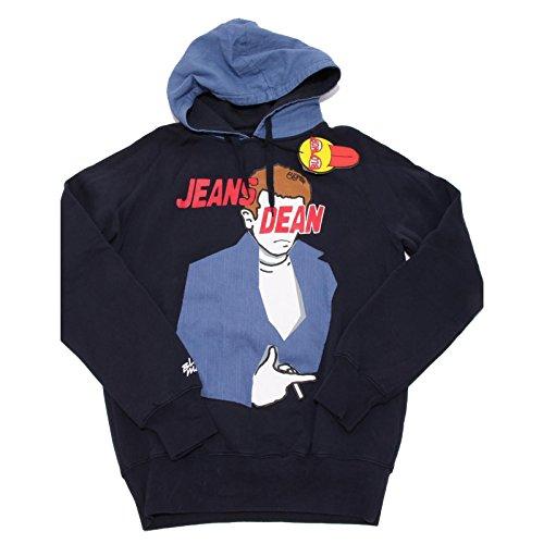 6604F felpa blu BLOMOR JEANS DEAN maglia uomo sweatshirt men [L]