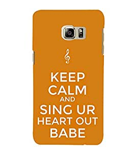 Sing Babe 3D Hard Polycarbonate Designer Back Case Cover for Samsung Galaxy Note5 :: Samsung Galaxy Note5 N920G :: Samsung Galaxy Note5 N920T N920A N920I