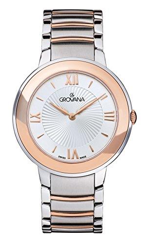 GROVANA - 2099.1152 - Montre Femme - Quartz - Analogique - Bracelet Acier inoxydable bicolore