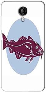 Snoogg Atlantic Codfish Retro Designer Protective Back Case Cover For Micromax Canvas Nitro 3 E455
