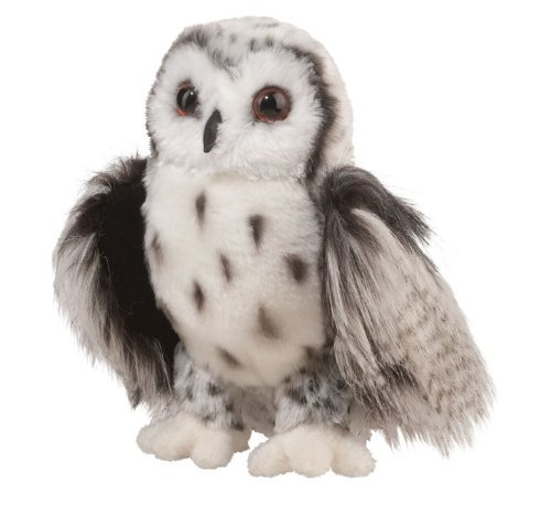 "Douglas Cuddle Toys Crescent Silver Owl 9"" by Douglas Cuddle Toys"