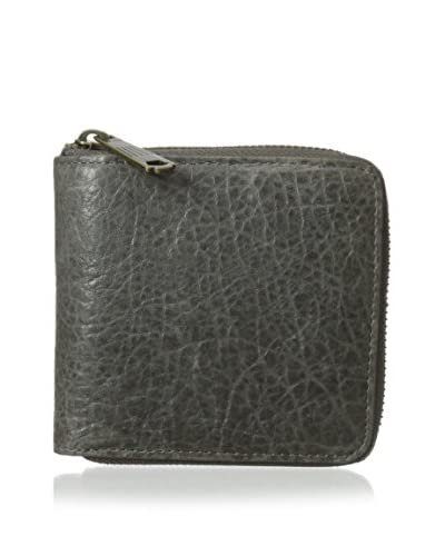 WILL Leather Goods Women's Amelie French Wallet, Grey