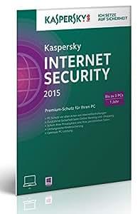 Kaspersky Internet Security 2015 - 3 PCs (Frustfreie Verpackung)