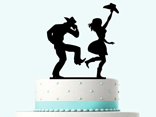 Funny Rustic Celebration Dancing Cake Topper Wedding Cake Topper