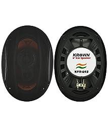 Krown KFR-693 3-way 6 X 9 inch Pair of Car Speakers with inbuilt Tweeter (Oval Shape)
