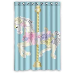 Popular design carousel horse waterproof for Bathroom decor amazon